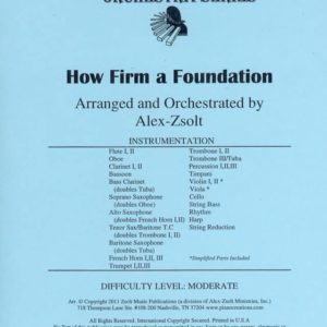 How Firm a Foundation Orchestration by Alex Zsolt