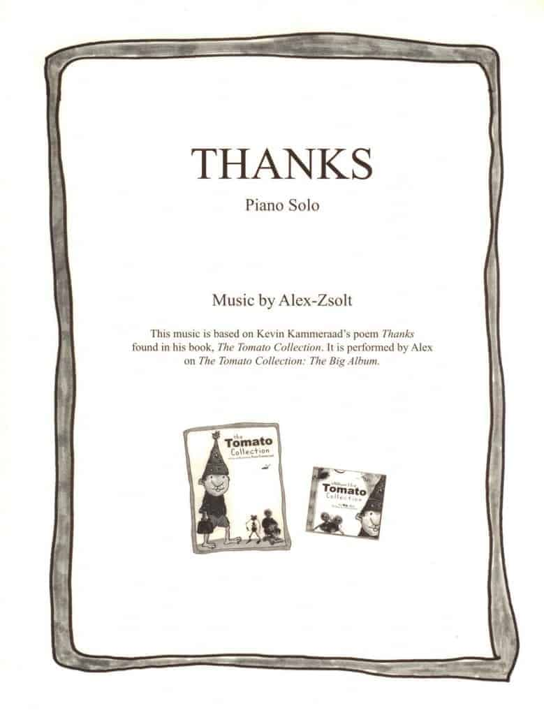 Thanks (Sheet Music)