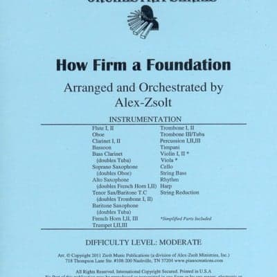 How Firm a Foundation (Orchestration)